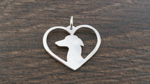 Italian greyhound Charm solid sterling silver Handmade in the Uk